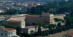 Pontifical North American College - View of the Janiculum campus of the North American College from the cupola of Saint Peter's Basilica in Vatican City