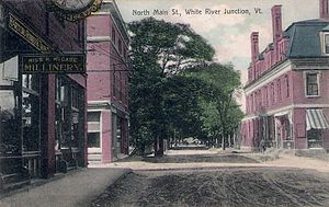 White River Junction, Vermont - North Main Street c. 1908