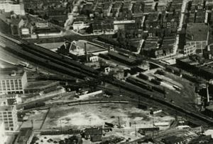 North Philadelphia station - Aerial view of North Philadelphia station and surrounding areas in 1929