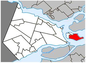 Notre-Dame-de-l'Île-Perrot - Image: Notre Dame de l'Île Perrot Quebec location diagram