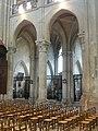 Noyon (60), cathédrale Notre-Dame, nef, 7e et 8e grande arcade du nord, vue sur le chapelles du bas-côté 1.jpg