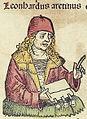 Nuremberg chronicles f 241v 4 Leonhardus aretinus.jpg