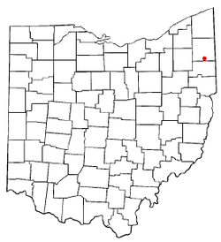 Location of Niles, Ohio