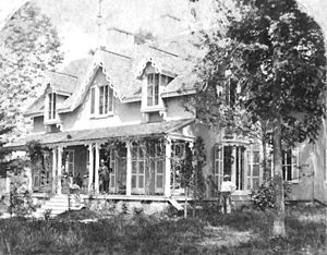 Lutherville, Maryland - Oak Grove, the home of Lutherville founder John Morris, in 1872