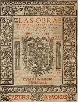 Obras de Boscán y Garcilaso Por Juan Boscán, Garcilaso de la Vega (autores);Carlos Amorós (impresor) [Public domain], undefined