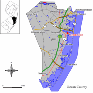 Map of Ocean Gate in Ocean County
