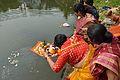 Offering to Goddess Ganga - Upanayana Ceremony - Simurali 2015-01-30 5345.JPG