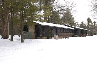 White Pines State Park Lodge and Cabins - The lodge at White Pines State Park was constructed as part of the New Deal.
