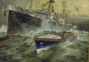 SS Monte Nevoso - Image: Oil Painting of the Monte Nevoso, Lifeboat Museum 13 February 2010