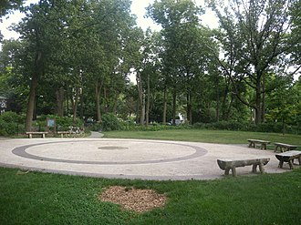 Flushing, Queens - Old Flushing Burial Ground, used in 17th and 18th centuries, now a park.