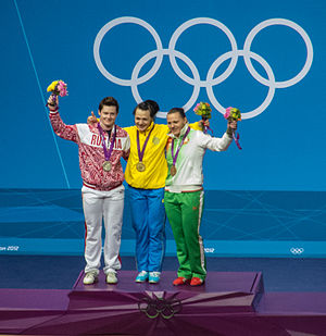 Weightlifting at the 2012 Summer Olympics – Women's 75 kg - Image: Olympics 2012 Women's 75kg Weightlifting Medalists