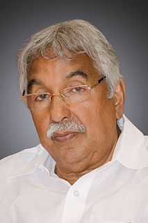 Oommen Chandy Ex chief minister of Kerala, India