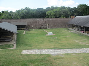 Fort James Jackson - Opposite side of the inside of the fort