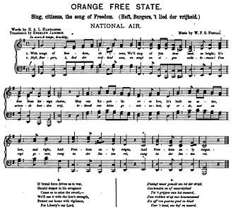 National anthem of the Orange Free State - Image: Orange Free State National Air