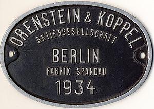Orenstein & Koppel - Image: Orenstein Koppel Schild