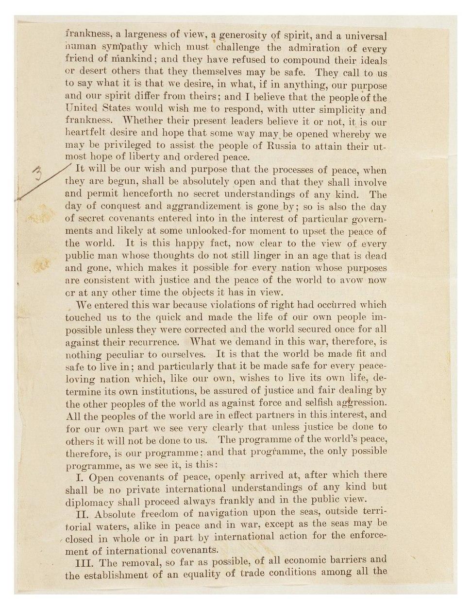 Original Fourteen Point Speech page1.pdf