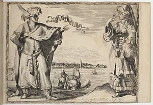 Bandar Abbas - Local costumes from Ormus, 1670