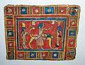 Osiris sur son lit funéraire, cartonnage de momie, époque ptolémaïque.JPG