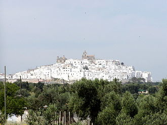 Ostuni DOC - The village of Ostuni that lends its name to DOC region
