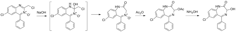 Oxazepam synthesis.png