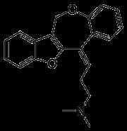 Skeletal formula of oxetorone