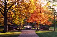 Oxford Botanic Garden in Autumn 2004