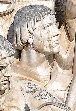 Pêro da Covilhã - Effigy of Pêro da Covilhã in the Monument to the Discoveries, in Lisbon, Portugal