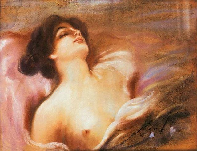 Półakt kobiecy - Franciszek Żmurko