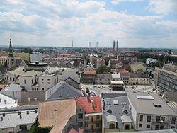 Přerov, pohled z věže zámku na západ.jpg