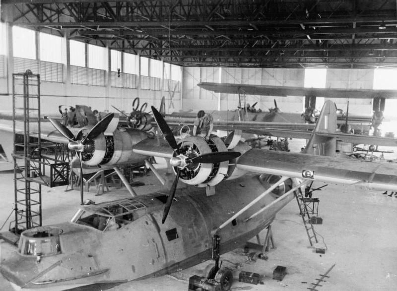 PBYs 205 Sqn RAF in hangar Singapore 1941