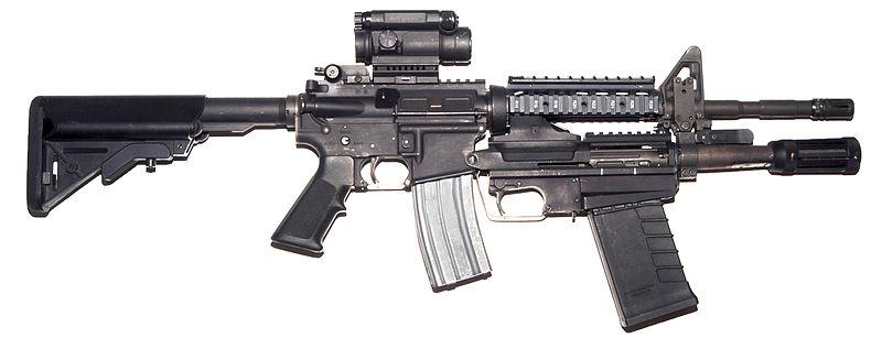 M16 800px-PEO_M26_MASS_on_M4_Carbine