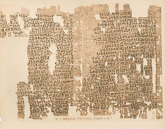 El Lahun - 12th Dynasty medical papyrus found at El Lahun