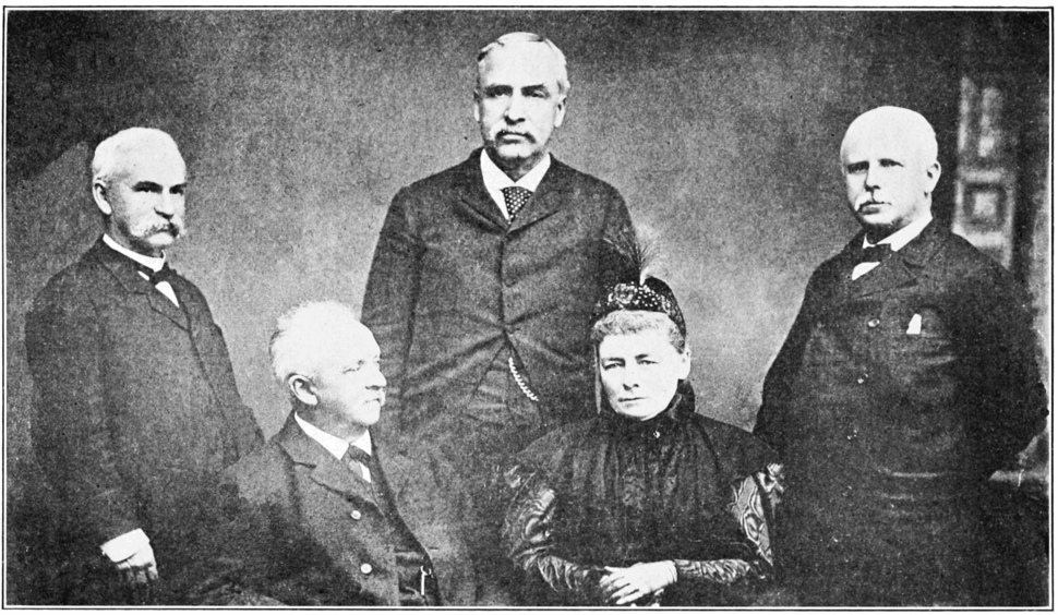 PSM V85 D521 Group photograph of herman helmholtz and academic friends