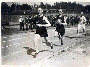 Paavo Nurmi - Nurmi at the 1920 Olympic trials