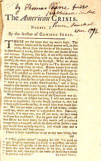 <i>The American Crisis</i> Series of eighteenth-century pamphlets by Thomas Paine