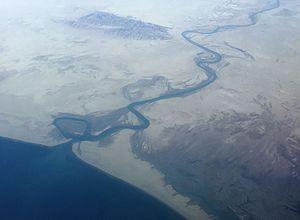 Dasht River - Dasht river running into the Jiwani Bay near the border to Iran