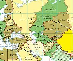 Пакистан поясное время в связи с пограничными государствами.