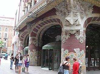 Palau de la Música Catalana - A detail from the entrance