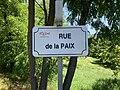 Panneau de la rue de la Paix à Miribel (Ain, France).jpg