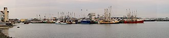 Cape May, New Jersey - A panorama of Cape May Harbor.