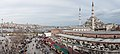 Panoramic view of Istanbul- Yeni Cami (The New Mosque), Galata Bridge. Turkey, Southeastern Europe.jpg