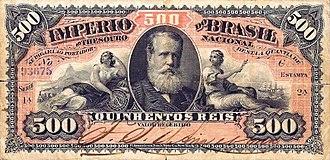 Brazilian real (old) - Image: Papel moeda 500 réis