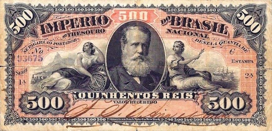 Papel-moeda - 500 réis