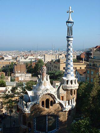 Barcelona, Park Guell, zdroj: wikipedia.cs