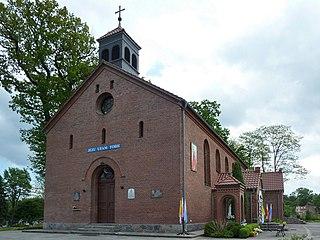 Parchowo Village in Pomeranian Voivodeship, Poland