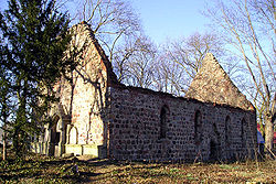 Ruins of the church from 14th century