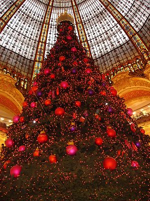 The famous Christmas tree of the Galeries Lafa...