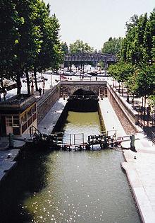 サン・マルタン運河の閘門 サン・マルタン運河