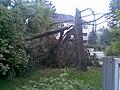 Park s fontánou pred ŽSR v PB, dnes už neexistujúci , nafotené po búrke , ktorá sa prehnala mestom 22.5.2009 (1 z 6) - panoramio.jpg