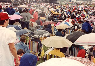 Parlee Beach Provincial Park - A rain-soaked crowd at the Beach Boys' Canada Day show at Parlee Beach (1989)
